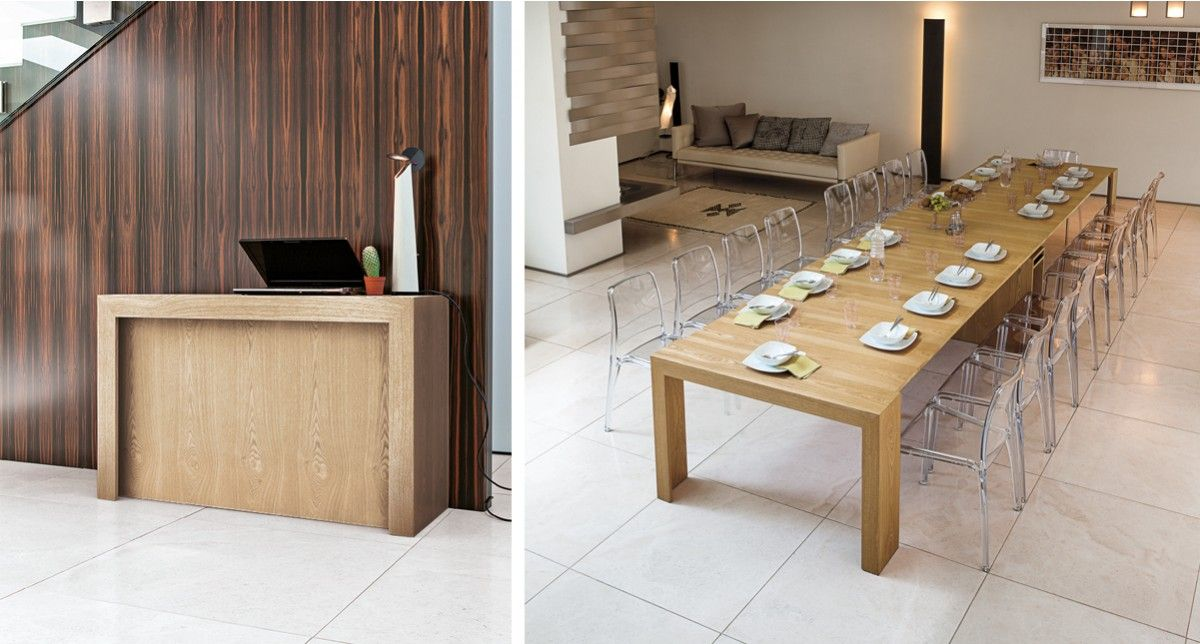Console Extensible Guzhina Dinning Tables Chairs Console Table