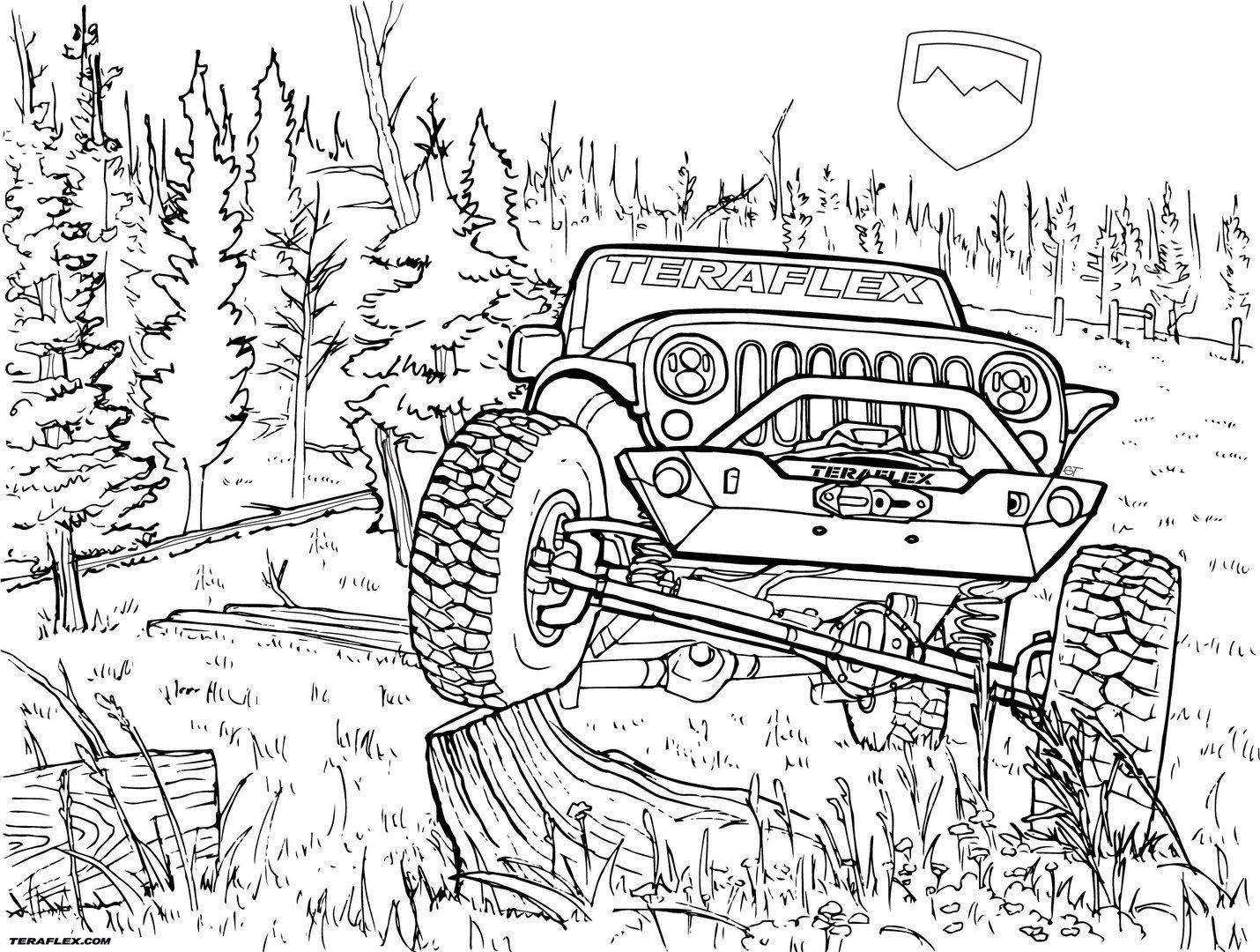 Gallery Teraflex Jeep Coloring Pages Teraflex In 2021 Jeep Art Truck Coloring Pages Coloring Pages