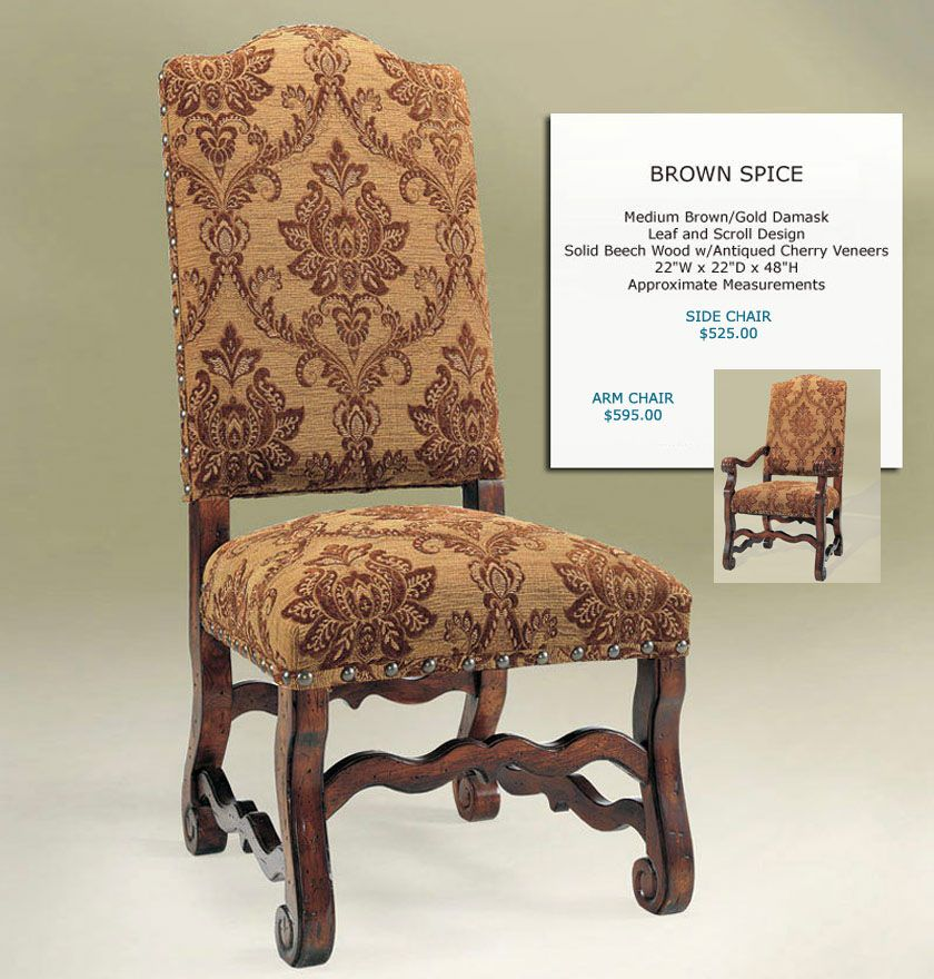 Old World Dining Chairs Old World Upholstery Designs Dining