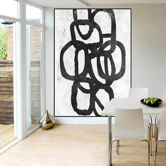 Grote Foto Op Muur.Zwart Wit Abstract Schilderij Extra Grote Muur Kunst Schilderij