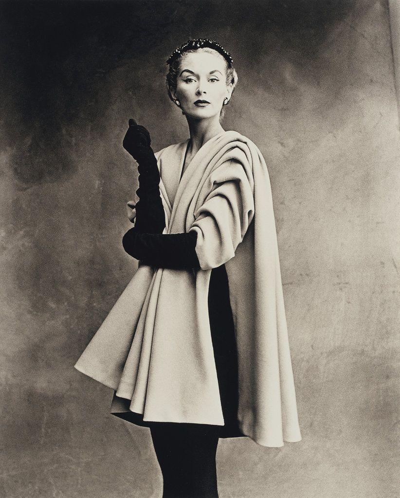 Irving Penn: Lisa Fonssagrives-Penn modeling Balenciaga Mantle Coat, Paris, 1950