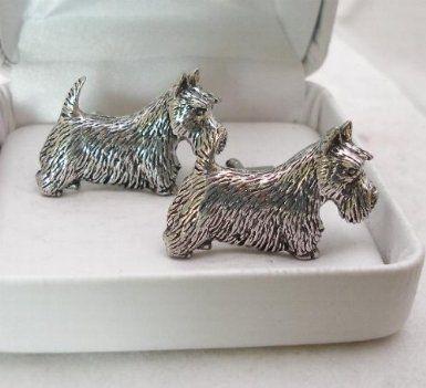Men/'s jewellery Photo jewellery Cufflinks for dog lovers Handmade Scottish Terrier