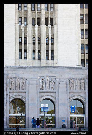 Art Deco Facade Of The Los Angeles County Hospital Los Angeles California Usa Hospital Architecture Art Deco Architecture Art Deco