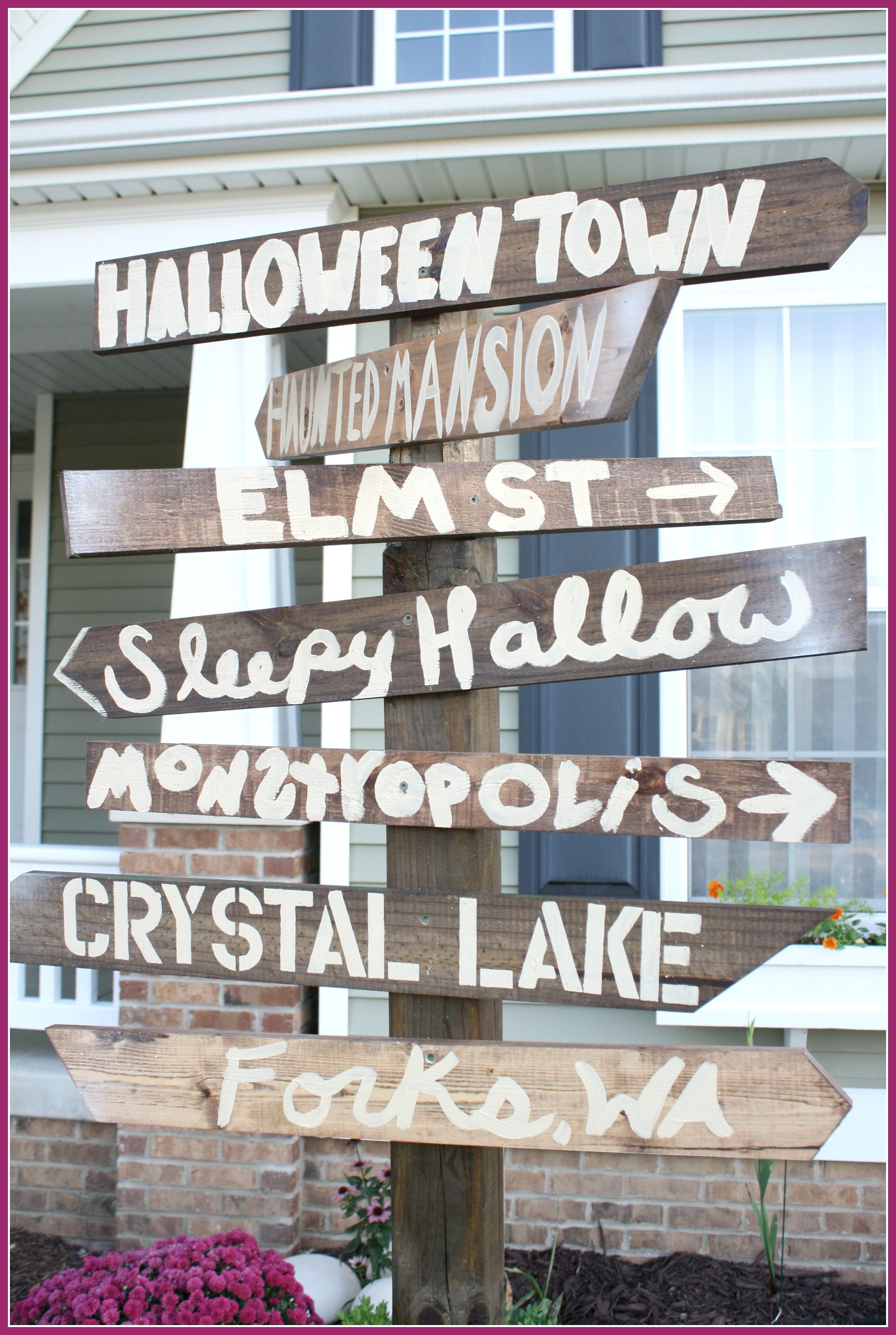 awesome halloween street sign decoration for the yard forks wa