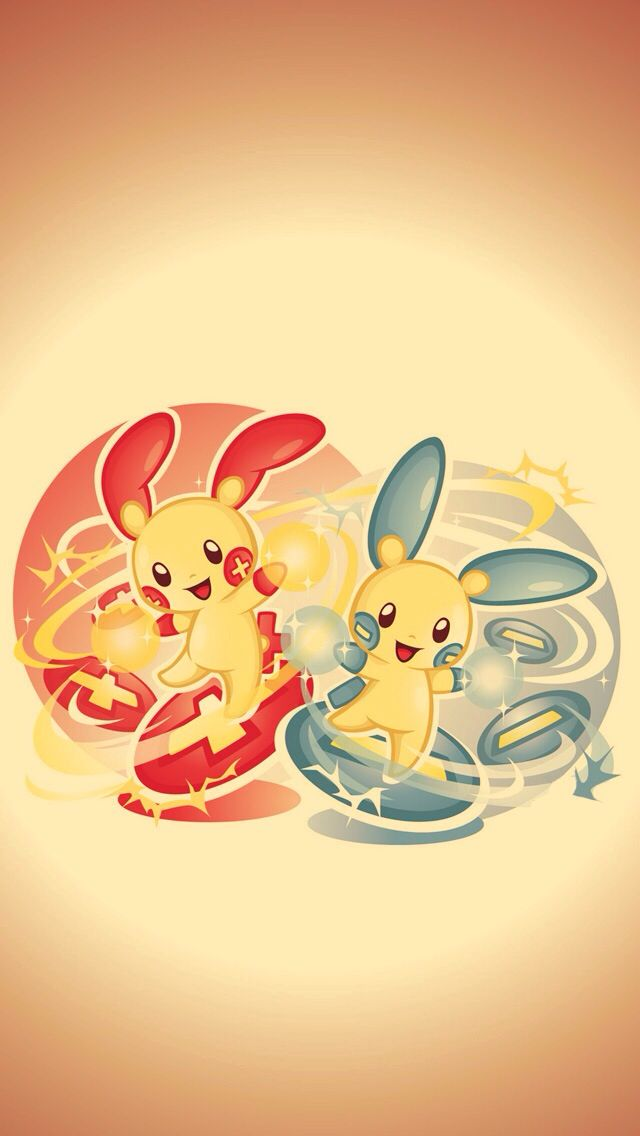 Plusle and Minun ★ Download more awesome Pokemon iphone