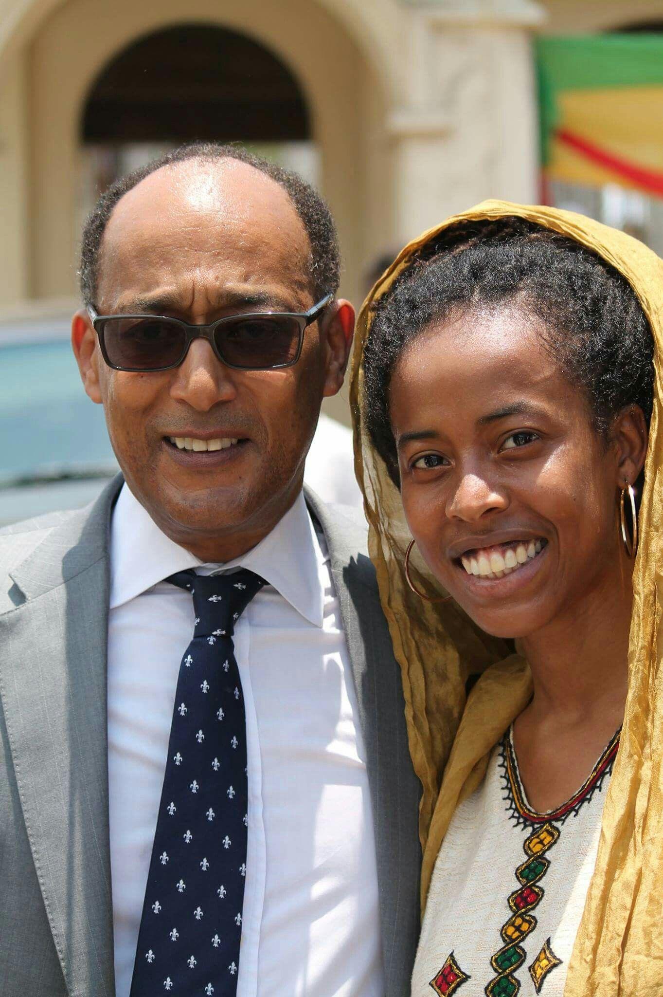 The grandson of Kedamawi Hayl Selasse (Haile Selassie I of Ethiopia) Prince Ermias Sahle Haile Selassie and the granddaughter of Bob Marley Donisha ...