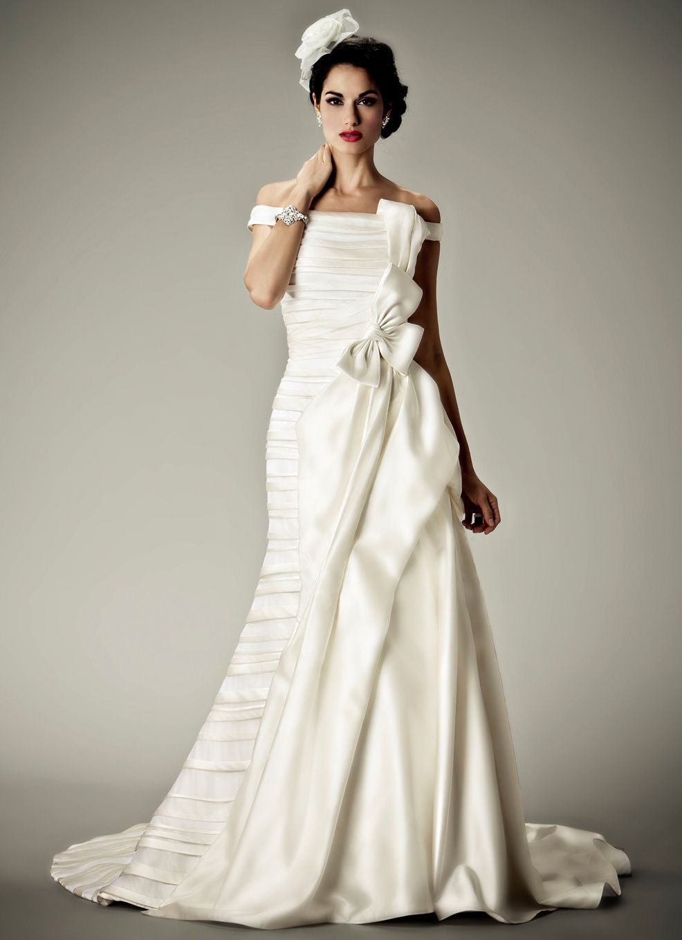 Matthew christoper ubandeauu vintage inspired wedding dress