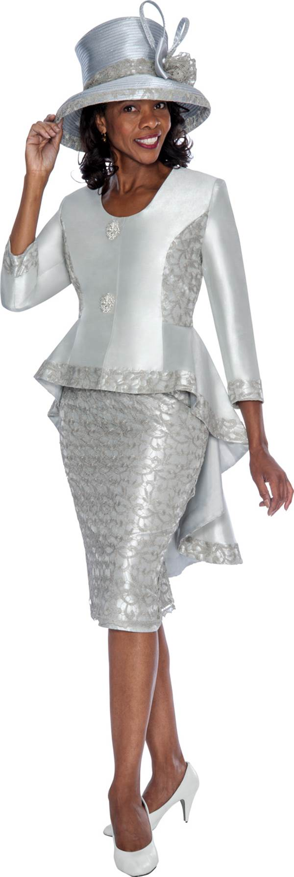 GMI G6012 Silver - Womens Church Suits  19f0452ced6