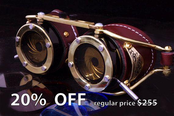 Steampunk Brille Dual Iris Blende von AccuviewPrecision auf Etsy