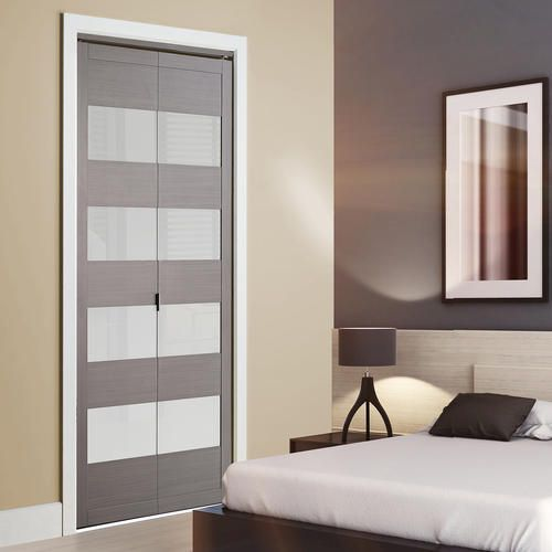 "Modern Colonial Elegance 4 Lite 24"" x 80 1 2"" Framed Frosted Glass Bi fold Door at Menards Colonial Elegance 4 Lite 24"" x 80 1 2"" Steel Gray Framed Fr… Beautiful - Review frosted interior door Photos"