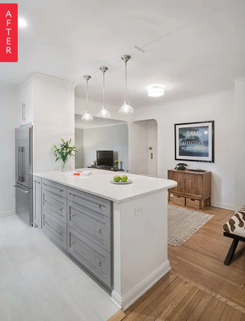 Before & After: A NYC Galley Kitchen Opens Up #galleykitchenlayouts