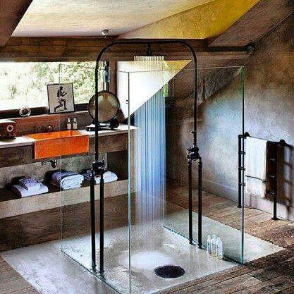 # HOME BATHROOM OPEN SHOWER
