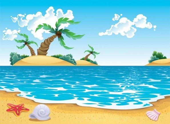 Summer Seascape Beach Painting Seascape Beach Background