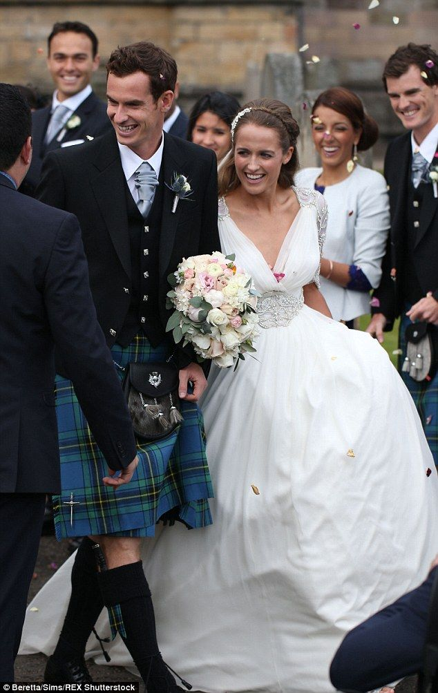 7b28606d24c3 Kim Sears married long-term boyfriend Andy Murray at Dunblane Cathedral  last Saturday in a bracelet-sleeved Jenny Packham gown. But while some Sears  fans ...