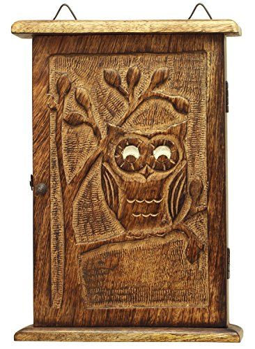 Decorative Key Box For The Wall Valentine Gifts Decoration Wooden Vintage Look Wall Mount Owl Key