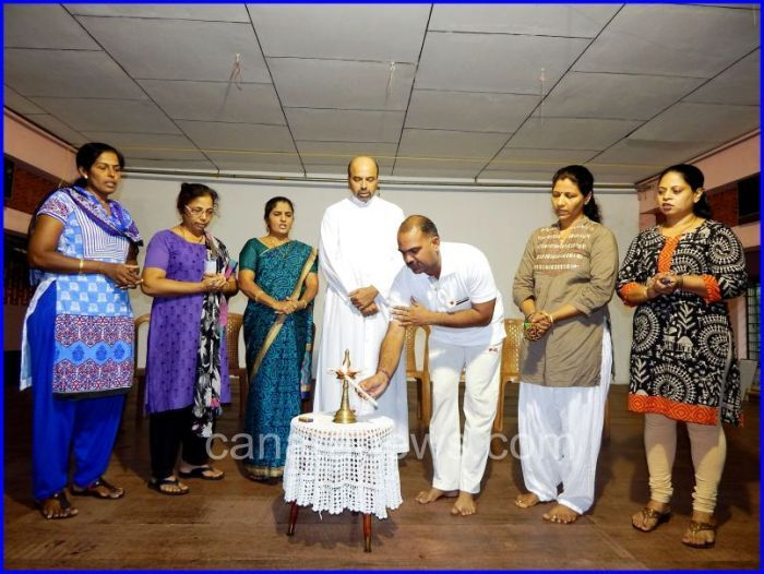 Yoga training inaugurated for women in Kundapur Learn about yoga today and improve your life style