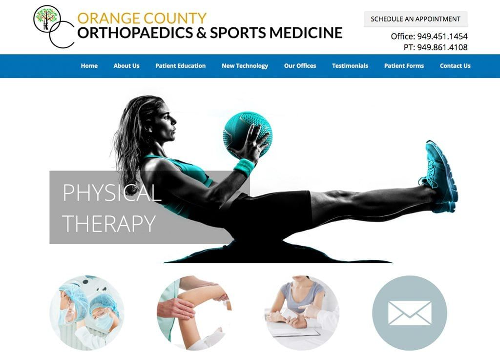 Specialty Chiropractic, Orthopedic Surgeon Color Theme
