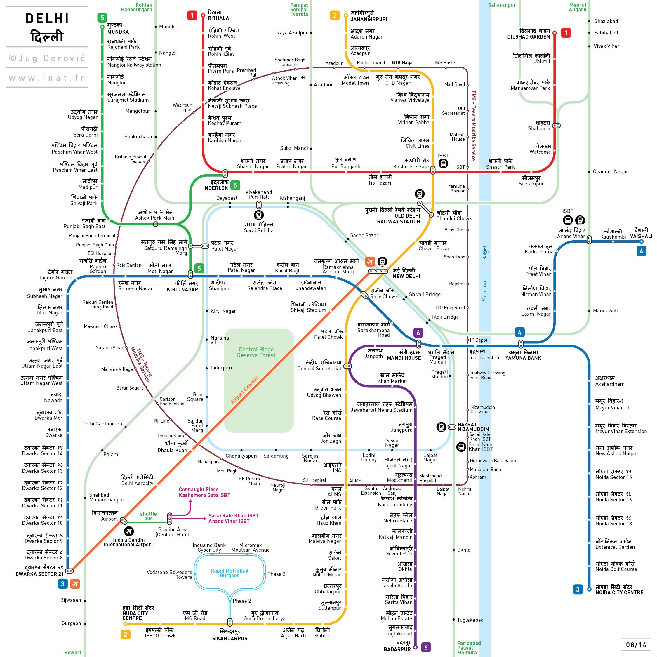 Delhi map by jug cerovic map pinterest tokyo metro map art print by jug cerovic gumiabroncs Choice Image