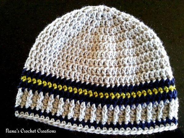 Crochet Men\'s Hat Free Patterns | Gorros, Gorro tejido y Lirios