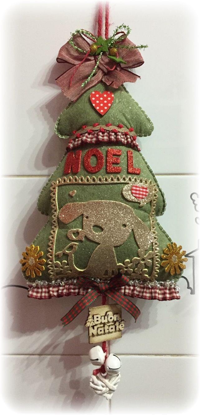 Decorazioni Natalizie In Feltro Pinterest.Albero Natale Feltro Natale Pinterest Felt Tree Navidad And