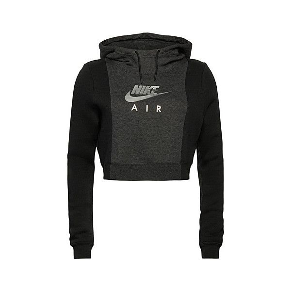 61d5a1dc94c5 Nike Rally Air two-tone cropped sweatshirt ( 64) ❤ liked on Polyvore  featuring tops