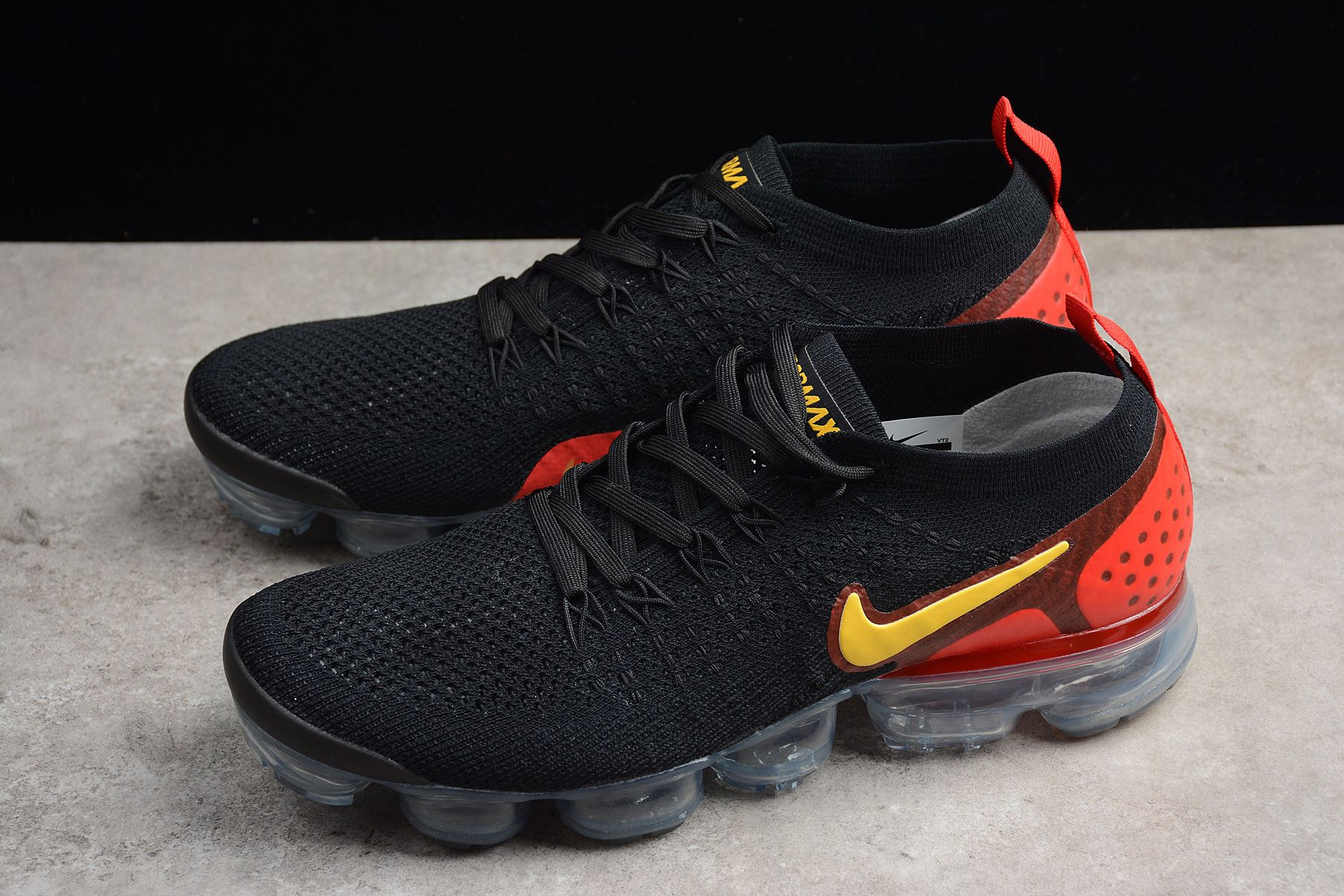 "36df13393da4 Men s Nike Air Vapormax Flyknit 2.0 ""Laser Orange"" Black Laser Orange-Total  Crimson 942842-005"