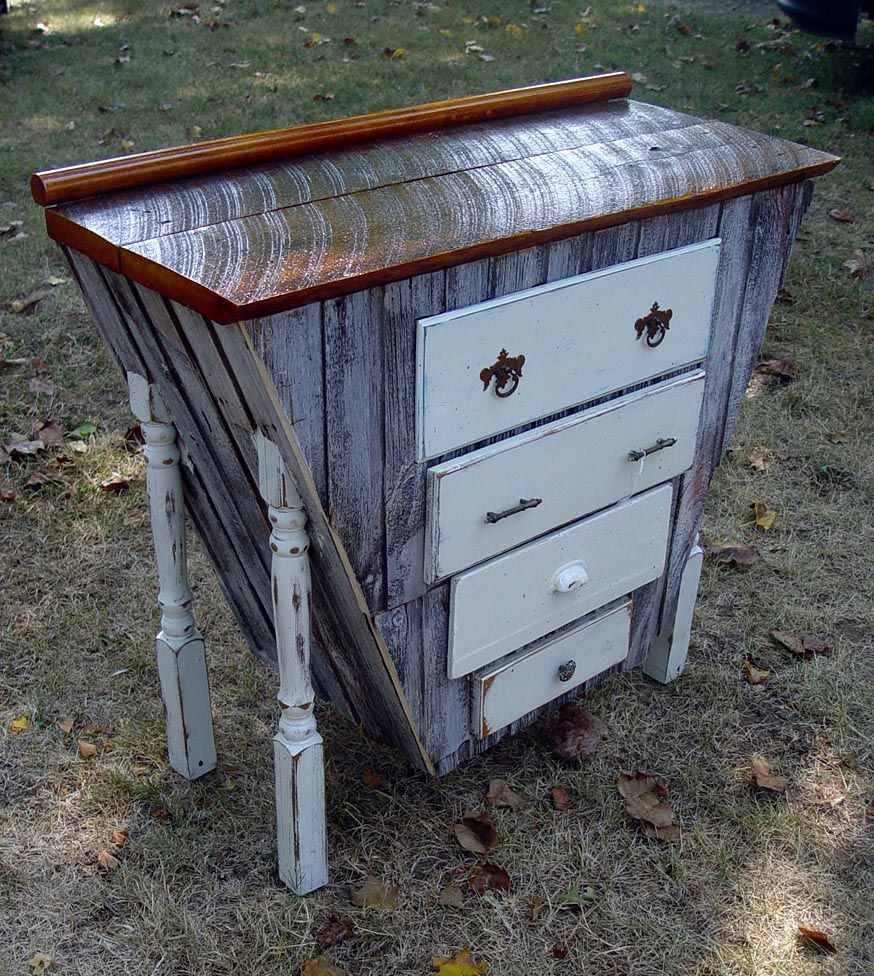 Calling It Salvage Art Furniture This Repurposed 40 Inch Tall Dresser Was Priced At 149