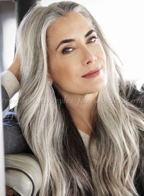 Long Grey Hairstyles Enchanting Long Hairstyles Over 50  Long Grey Hairstyle Http