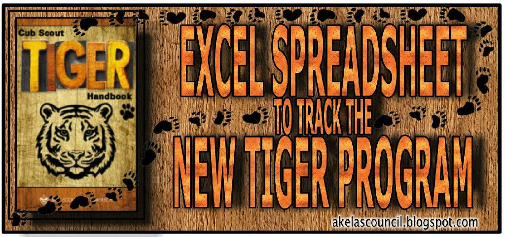 This Tiger Advancement Excel Spreadsheet is a workbook of FREE