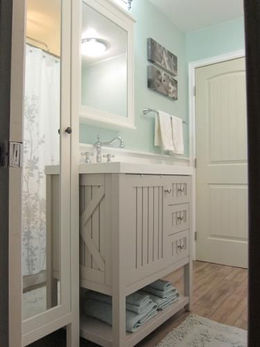 Perfect Vanity For A Coastal Theme Bathroom Design Decor Green Bathroom Nautical Bathrooms