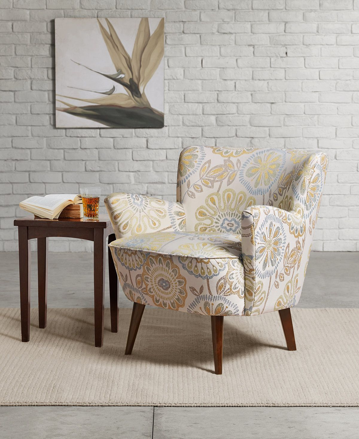 Sophie Mid Century Accent Chair Quick Ship