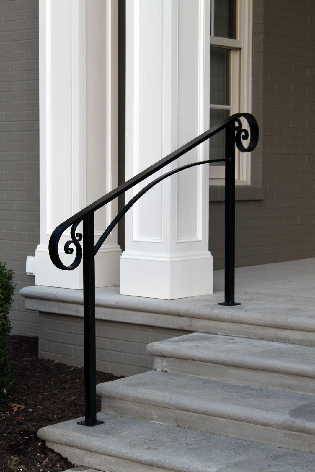 Installation 9 9 13 Powder Coating In Matte Black Over | Aluminum Handrails For Steps