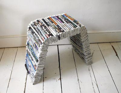 newpaper recycled chair | DIY | Pinterest | Newspaper ...