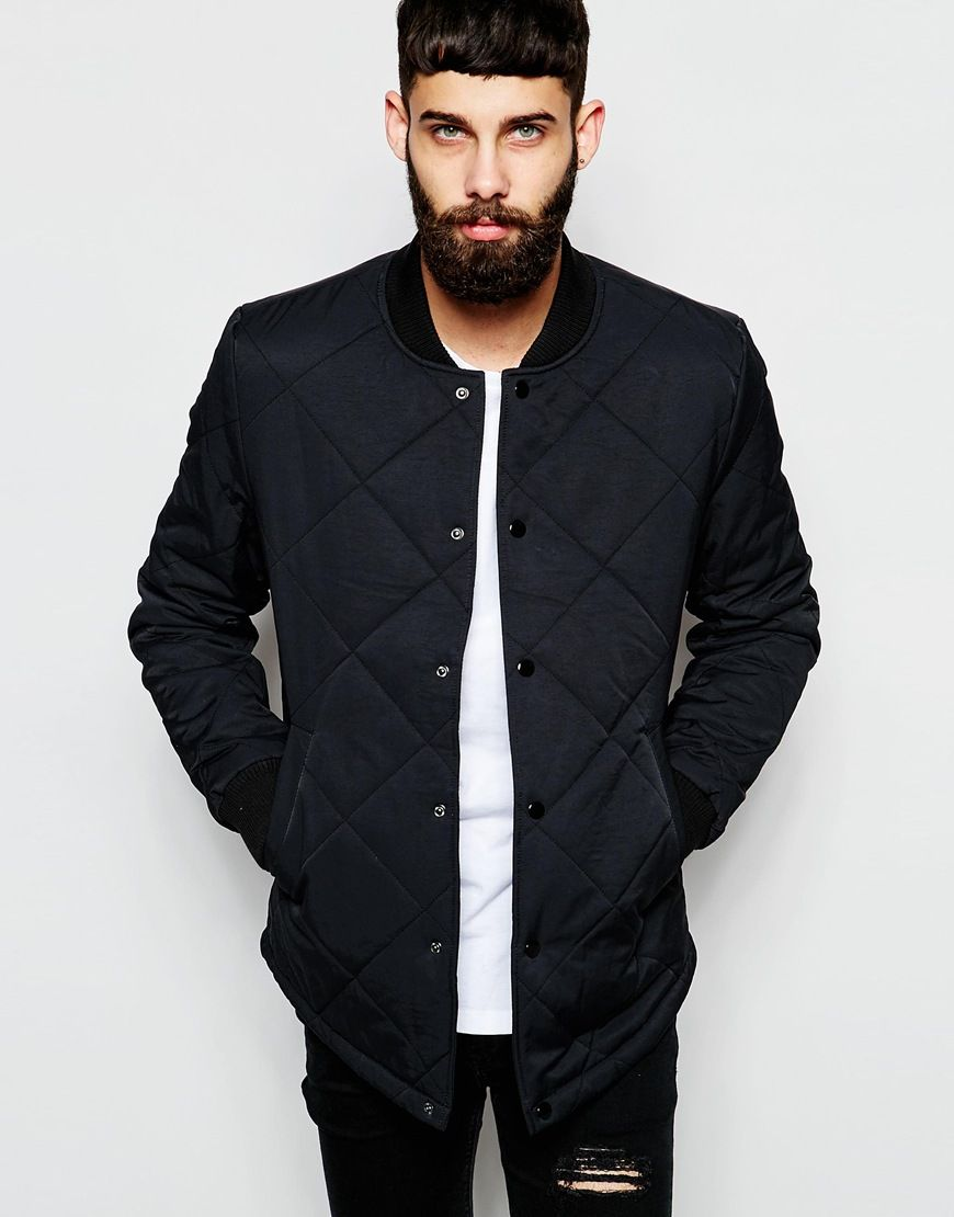 Mens quilted jacket river island