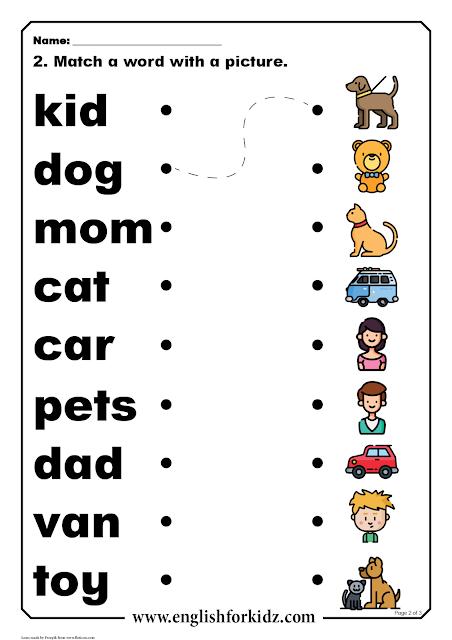 Reading Comprehension Worksheets: Short Word Stories