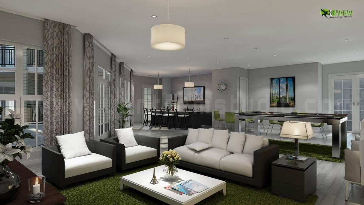 Living Room House Interior Contemporary Interior Design Living