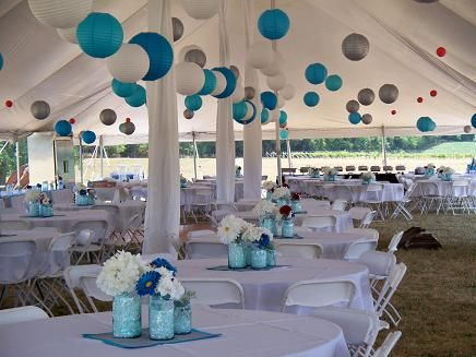 Tent lighting and decorating packages we can make wedding for Outdoor party tent decorating ideas