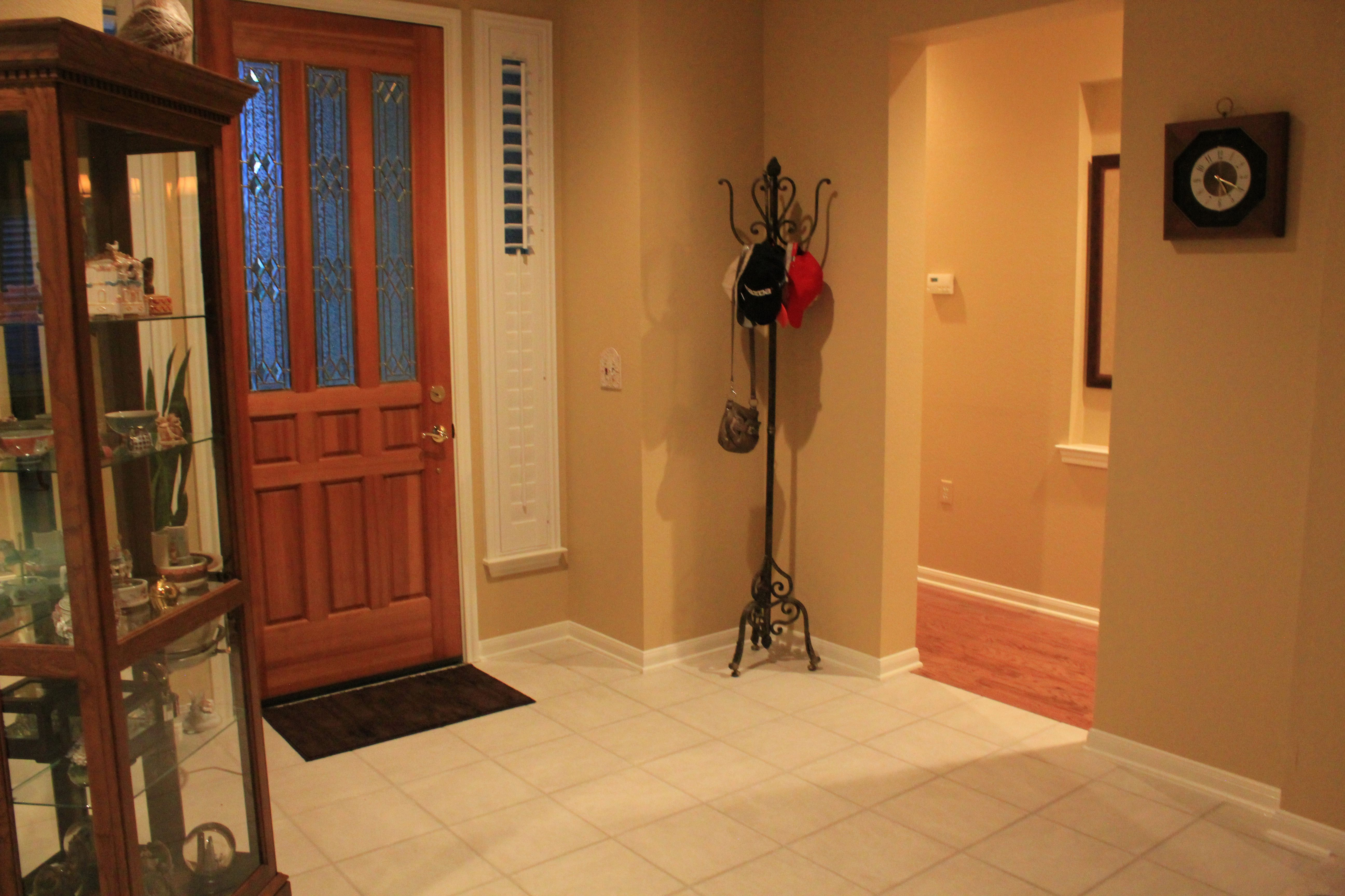 Front Foyer Tile Pictures : Mb front foyer = this white tile amd the wood in hall will be
