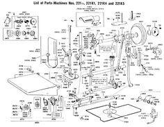 Singer featherweight sewing machine parts, Singer