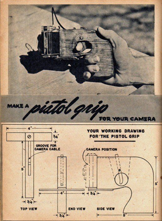 Make a pistol grip for your camera