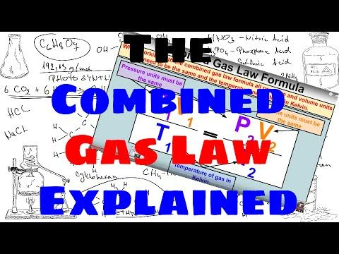 The Combined Gas Law Explained Science Chemistry Ap Chemistry Chemistry Class