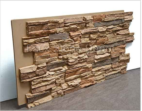 Nice Finally Found A Cheap, Thin Version Of Faux Stone Veneer. The Base Of My