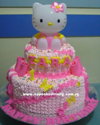 Hello Kitty Birthday Cake Cupcakes fit for divines 2
