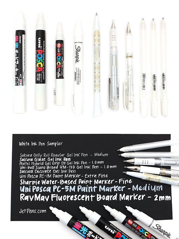 White Ink Pens Are A Valuable Tool For Artists Crafters Designers And More Due To Their Versatility And Wide Rang Artist Pens White Gel Pen Artist Supplies