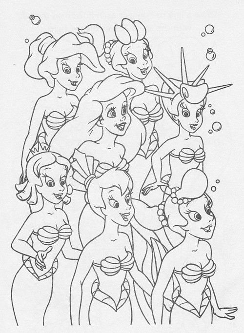 A Daughter Of Triton Disney Coloring Pages Mermaid Coloring Pages Disney Princess Coloring Pages