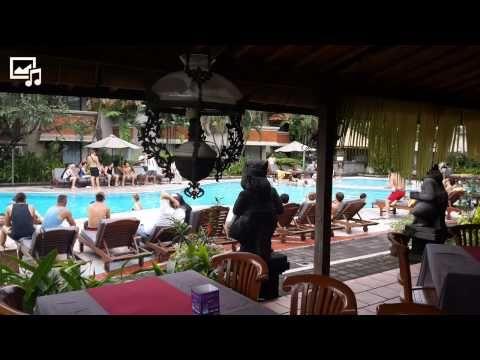 Sundown Pool Party At White Rose Hotel Legian Bali Rose Hotel Big Swimming Pools Hotel