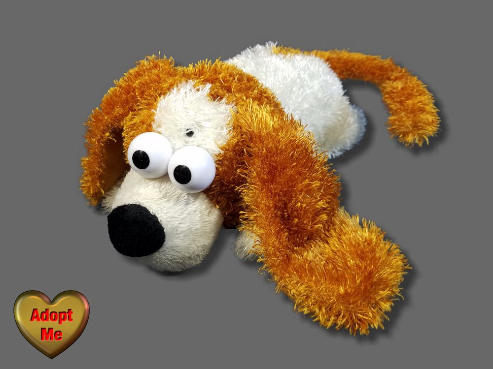 Chericole Brown White Motion Activated Laughing Rolling Dog