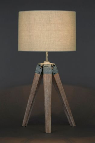 Wooden Tripod Table Lamp From The Next Uk Online
