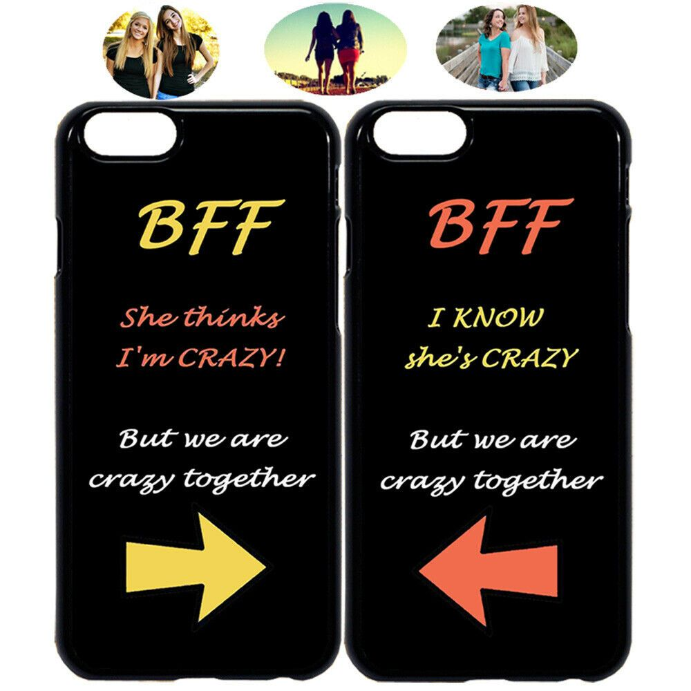 Best Friends BFF Heart Matching Phone Case For Apple iPhone X 8