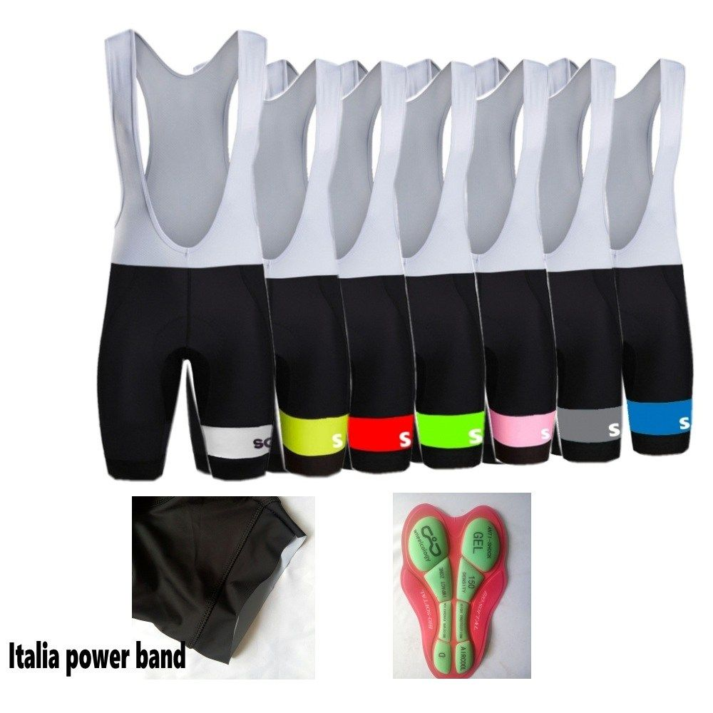 5D Silicone Pad Bicycle Bibs Shorts Men/'s Breathable Cycle Tight Pants Knickers